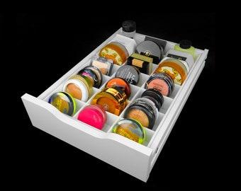 Powder Drawer Organizer (Fits IKEA® Alex Drawer Units) - Makeup Organizer - Makeup Drawer Insert - Powder Storage