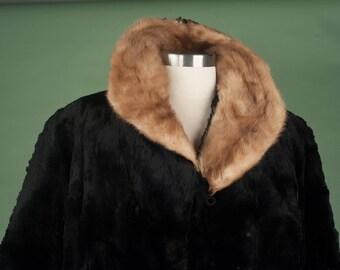 Vintage Two Tone Fur Coat