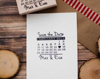 Save the Date Rubber Stamp, Calendar Rubber Stamp, Wedding Invitation Rubber Stamp, Wedding Rubber Stamp, Custom Wedding Stamp