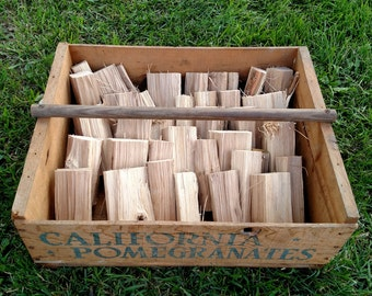 Organic Cherry Smoker Wood...Chunks for smoking, bbq, grilling..FREE SHIPPING..disease and pesticide free