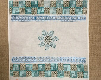 Hand Block Printed Tea Towel