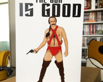 Zardoz Funny Retro Sci-Fi Greeting Card
