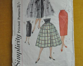 "Vintage 1950's Simplicity Sewing  Pattern 2609  W24""H33""- View 1 only"