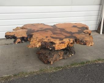 Attirant SUMMER SIZZLER SALE   Large Mid Century Free Flow Burl Wood Live Edge  Nature Coffee Table