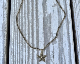 Bronze Starfish Necklace- Starfish Necklace- Nautical Necklace- Beach Necklace- Nautical Jewelry- Gift for Her- Affordable Necklace
