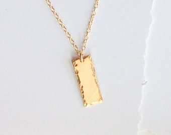 Personalized Bar Layering Necklace Gold Bar Personalized Gold Necklace W/ Initial Or Name Necklace Gold Pendant Modern Pendant Customized