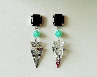 Tri Aztec earrings