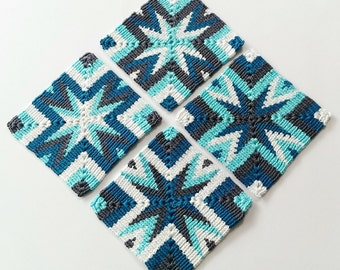 Tapestry crochet pattern coaster Star by Atelier Sopra