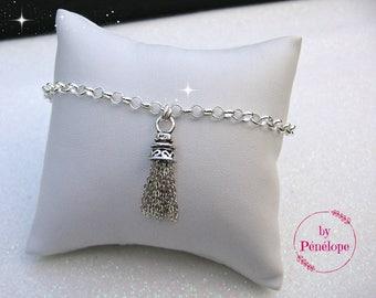 SPECIAL 20% OFF! Pompom 925th silver Belcher link chain bracelet