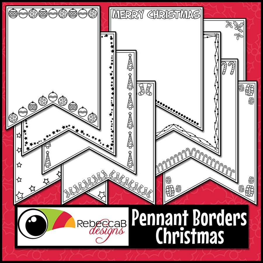 Navidad Clip Art, fronteras, bordes de Navidad, imágenes ...