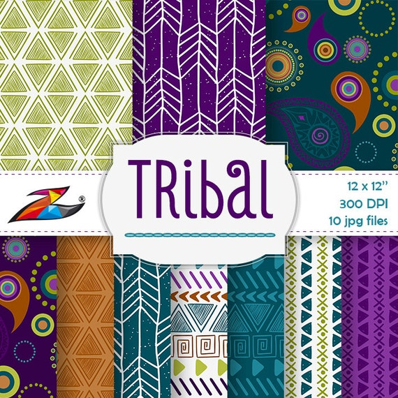 labor day sale colorful tribal digital paper aztec pattern. Black Bedroom Furniture Sets. Home Design Ideas