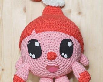 Crochet pink pig toy Rosy from Babyriki cartoon, pig amigurumi, piglet stuffed toy, pig plushy, cartoon characters