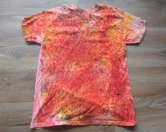 Hand Dyed Cotton T-shirt Size Medium