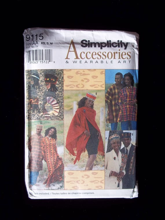 Vintage Simplicity Traditional African Attire Sewing Pattern-Kaftan ...