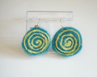 Teal & Lime Green Spiral