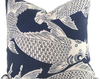 Manuel Canovas Calypso Decorative Pillow Cover Square or Lumbar Pillow, Koi Fish Pillow, Toss Pillow, Throw Pillow, Indoor Outdoor Pillow