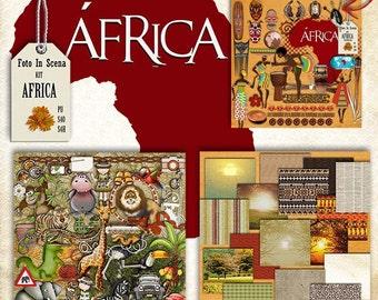 Digital kit AFRICA, animals,travel, safari, african stuff