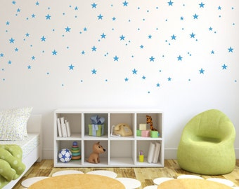 Star Decals, Nursery Wall Decals, Star Wall Decals, Childrens Vinyl Decals, Star Stickers, Playroom Decals, Set of 84