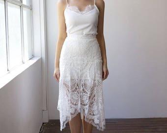 White Lace Wedding Dress Skirt
