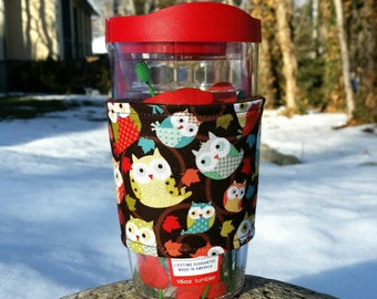 FREE SHIPPING UPGRADE with minimum -  Tervis cozy / Tervis tumbler sleeve / Tervis cup wrap / Owls