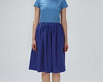1950 fête robe de soirée bleu bloc couleur bleu de demoiselle d'honneur robe de coupe et flare robe des années 1950 robe grande taille d'inspiration Vintage robe