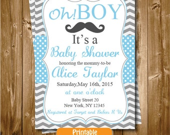 Mustache baby shower invitation mustache invitation little man baby shower invitation little man printable baby shower mustache invitation mustache man blue and filmwisefo Image collections