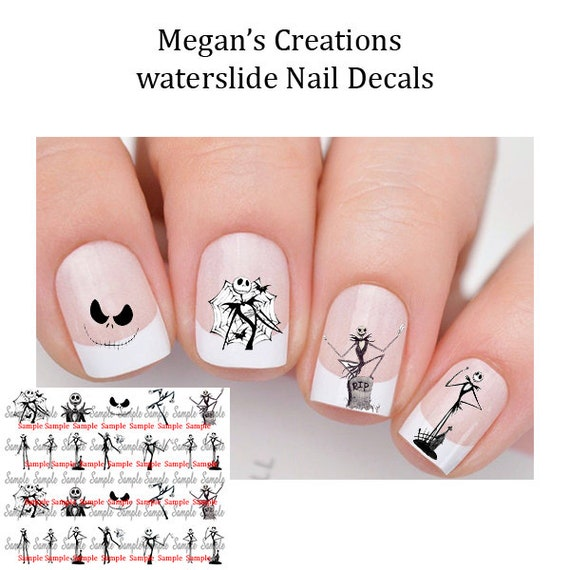 Nightmare Before Christmas Nail Art Decals