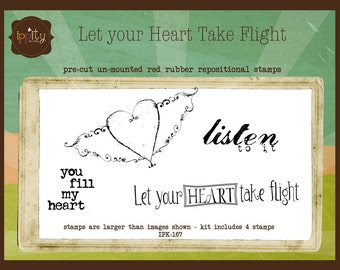 Clearance - Unity - Ippity Stamps - Let Your Heart Take Flight