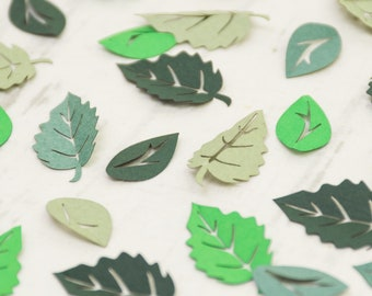 Green Leaf Table Confetti - Woodland Wedding - Leaves - Confetti - Rustic Wedding Confetti - Spring Wedding Confetti - Paper Leaves -