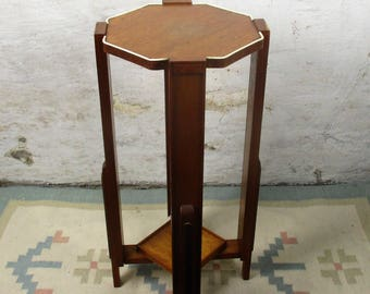 Mid Century Modern Pedestal Table Plant Stand Side Table Danish Modern style