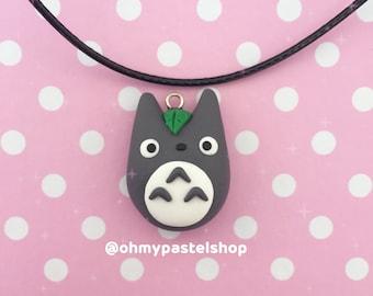 Totoro necklace   My neighbor Totoro, Studio Ghibli, Cute charm, kawaii, Polymer Clay jewelry