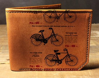 wallet - leather wallet - mens wallet - Bicycle wallet- 007