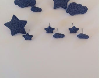 Star & cloud earrings