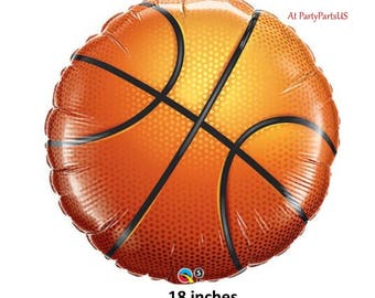 basketball balloon, sports party decorations, player birthday supplies, team banquet, all stars, senior night, graduation, athletic, baller