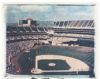 MLB OAK Athletics Mt Davis Polaroid Transfer Photo 8x10 download