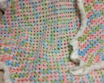 Crocheted Baby Afghan - Ready to Ship