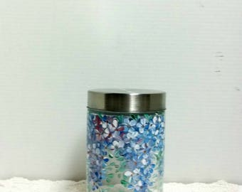Kitchen Canister, Canister Jar,  Glass Canister, Storage Jar, Kitchen Storage, Glass Jar, Kitchen Organize, Kitchen Jar, Hand Painted Design