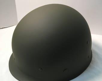 WWII US Army M1 Type Steel helmet Liner OG