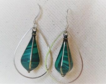 The ethnic green Malachite earrings