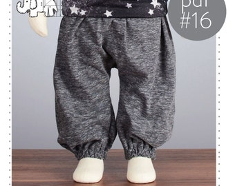 Baby sarouel pants pattern // baggy pants sewing pattern // pdf and tutorial // 0M-6T // #16