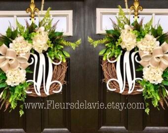 Double Door Wreaths, Spring Wreaths For Front Door, Farm House Decor,