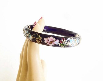 Vintage Bangle Bracelet, Blue Cloisonne Bracelet, Fine Costume Jewelry, Jewelry Accessories, Asian Jewelry, Dressy Casual Bracelet