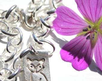 Silver fox bracelet, fox charm bracelet, fox charm, fox jewellery, wildlife jewellery, fantastic mr fox