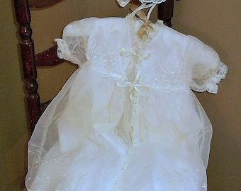 Vintage Christening  Ensemble 1960's