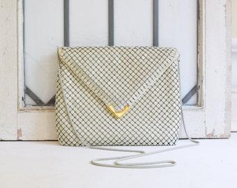 vintage white handbag