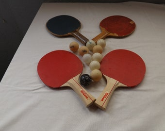 Table Tennis Ping Pong Game Paddles and Balls