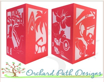 Lilo and Stitch Paper Lantern luminary for Disney themed weddings, birthdays, showers, parties, events