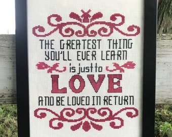 The Greatest Thing Cross Stitch Pattern Instant PDF Download