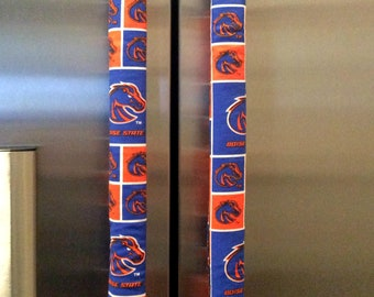 Boise State Refrigerator 1 set (2 pieces) of Fabric Handle Cover