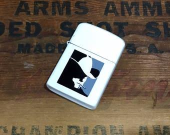 Vintage Marlboro Man Advertising Cigarette Lighter